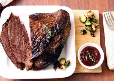Bison Brisket Cooked